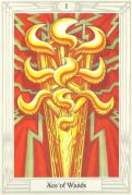 Ace of Wands Crowley Thoth Tarot