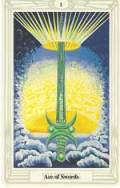 Ace of Swords Crowley Thoth Tarot